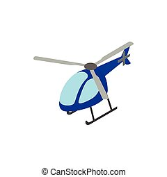 Helicopter icon, isometric 3d style - Helicopter icon in...