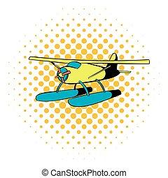 Hydroplane icon, comics style - Hydroplane icon in comics...