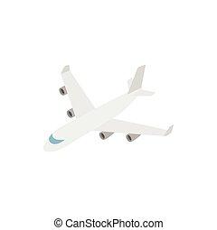 Cargo plane icon, isometric 3d style