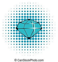 Crystal icon, comics style - Crystal icon in comics style...