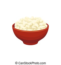 Cottage cheese icon, cartoon style - Cottage cheese icon in...
