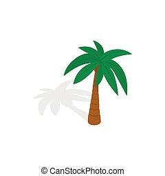Palm tree icon, isometric 3d style - Palm tree icon in...