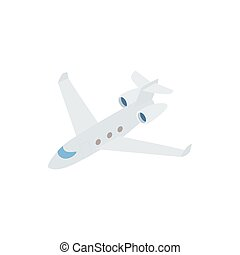 Passenger airliner icon, isometric 3d style