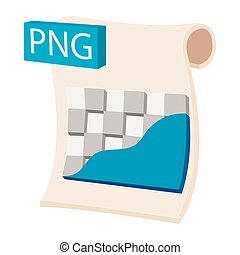 PNG image file extension icon, cartoon style - PNG image...