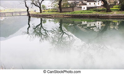 wuyuan23.mov - beautiful old village in China, time lapse of...