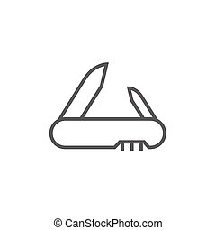 Jackknife line icon - Jackknife thick line icon with pointed...