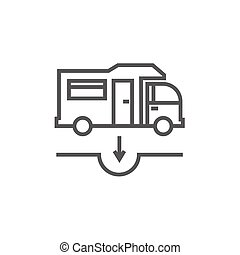 Motorhome and sump line icon - Motorhome and sump thick line...