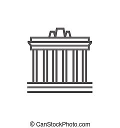 Acropolis of Athens line icon. - Acropolis of Athens thick...