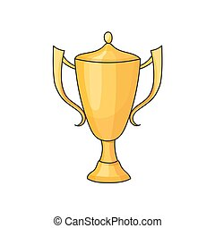 doodle winner cup - Doodle winner cup on a white background...