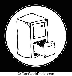 Simple doodle of a filing cabinet