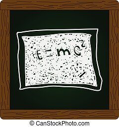 Simple doodle of a blackboard with math equation