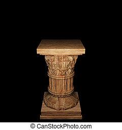 madeira, coluna