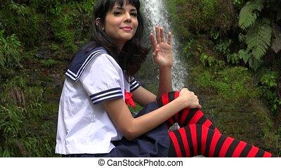 Cute Cosplay Teen Girl