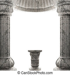 stone column made in 3 D graphics