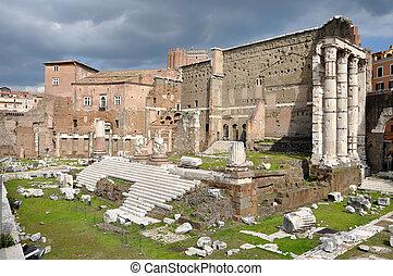 Imperial forum of Emperor Augustus Rome, Italy - Roman forum...