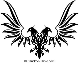 Double headed eagle 2 vector - Silhuette of double headed...