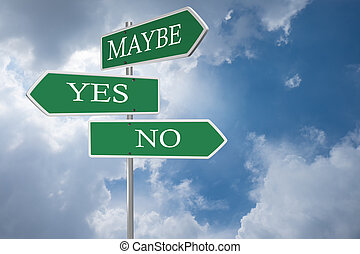 yes or no road signs