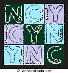 NYC print design district 2 - New York city Typography...