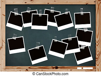 Memories on school Horizontal background