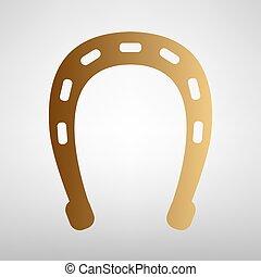 Horseshoe sign. Flat style icon