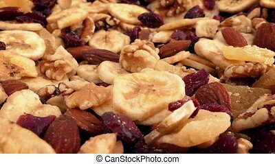Dried Fruit And Nut Mix Rotating - Mixture of dried fruits...