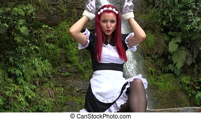 Cute Female Cosplay Maid