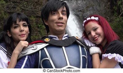 Happy People Wearing Cosplay Costumes