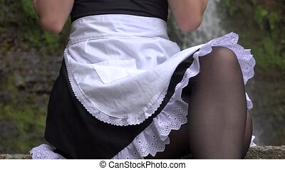 Girl In Maid Outfit