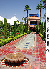 Moroccan Garden - Beautiful Moorish garden on the grounds of...
