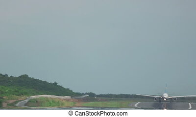 Airplane taking off from Phuket Airport - Airplane Airbus...