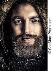invierno, hombre