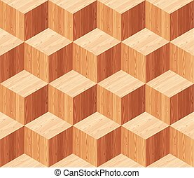 Diamonds Parquet Seamless Floor Pattern