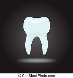 Vector tooth silhouette Icon dental, healthy tooth, dentist...