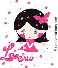 cute girl/T-shirt Graphic/the children's book illustrations/fashion girl graphic/sea-themed illustrations/illustration beautiful girl/beach girl/sweet girl/pretty girl/character design