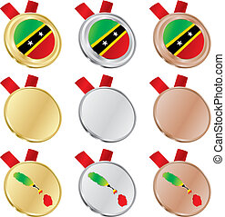 saint kitts and nevis flag medals