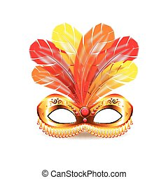 Carnival mask isolated on white vector