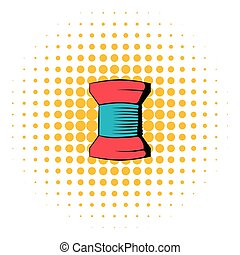 Spool of thread icon, comics style