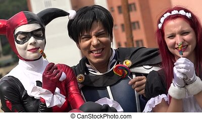 Cosplay Friends With Lollipops