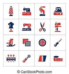 Set color icons of sewing