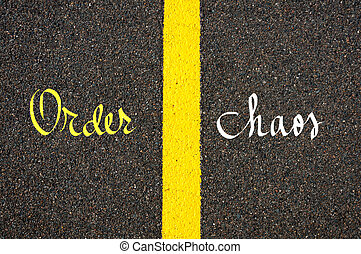 Concept image with road marking yellow line - Road marking...