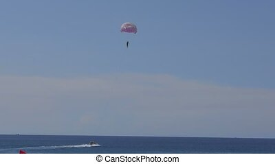 Parasailing on Phuket - Parasailing parachute on Karon...