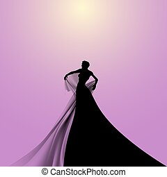 Silhouette of Opera Singer - Silhouette of Opera Woman...
