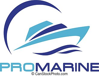 speed boat and yacht logo - elegant and simple vector yacht...