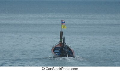 Thai boat sails from Karon Beach