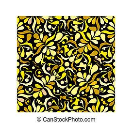 Yellow seamless patten, vector illustation