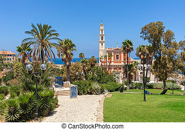 St. Peter's Church in Jaffa, Israel. - View of St. Peter's...