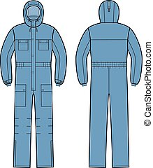 Overalls - Vector illustration of overalls with hood