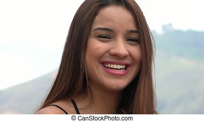 Pretty Young Woman Laughing
