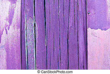 purple and violet wooden rustic background or painted wood...