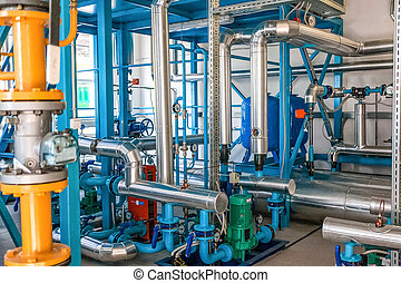 Water pumping station - at factory